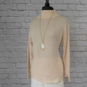 Blush Vintage Oversize Acrylic Choker Neck Sweater
